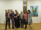 """Consonancias-Disonancias"" - Mr. Horacio Aarón Saavedra Archundia, Consul of Mexico in Frankfurt am Main, with some of the exhibiting artists"