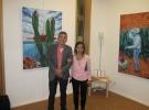 """Consonancias-Disonancias"" - Filiberto with Cecilia Lima-Wüst, curator and exhibiting artist."