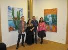 """Consonancias-Disonancias"" - Filiberto with co-exhibiting artists Jennifer Jennsel, Ángel Montes and Rosaana Velasco."