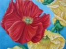 """En la Lluvia"" (50 x 50 cm) - Oil & Sand on Canvas"