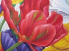 """Fields"" (50 x 50 cm) Oil & Sand on Canvas"