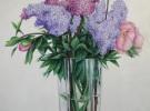 Primavera en Casa  (80 x 100 cm)  Oil & Sand on Canvas