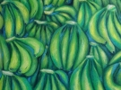 Olas Verdes (60 x 80 cm) - Oil & sand on wood