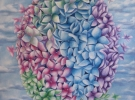 """""""Living Harmony"""" (80 x 100 cm) Oil & Sand on Canvas"""