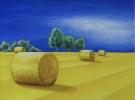 """Golden Summer""  (40 x 50 cm) Oil & Sand on Canvas"