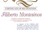 Certificado speaker ca state assembly