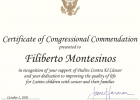 Certificado us congress Jane Harman