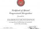 Certificado us congress Xavier Becerra